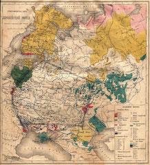 1905 / Этнографическая карта Российской Империи. Европейскаячасть