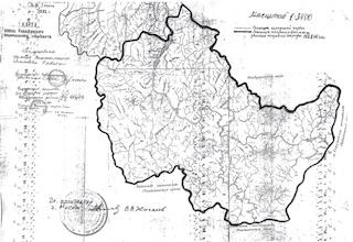 1992 / Карта земель Чувашинского национального сельскогосовета